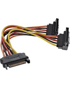 Kabel S-ATA Strom-Y-Kabel an 2x SATA gew