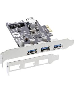 SIL-PCIe USB 3.0 3x+1x Karte LP
