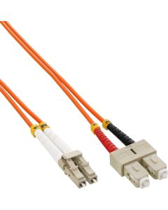ZL/ LWL Duplex, LC/SC, 50/125µm/OM2   1m