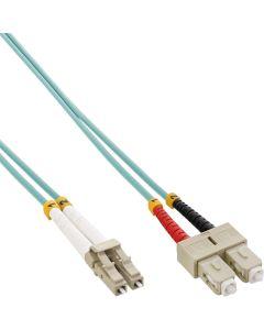 ZL/ LWL Duplex, LC/SC, 50/125µm/OM3 0,5m