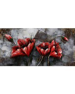 CIMPLEX Red Flowers 120 x 60 cm     -192