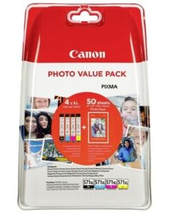 Canon Tinte CLI-571XL PhotoPack BK/C/M/Y